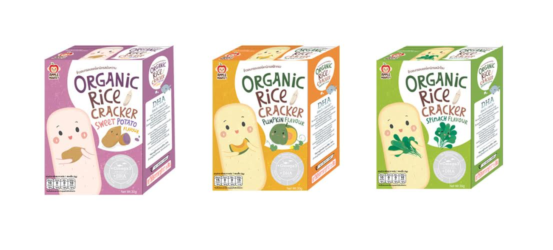 Organic rice cracker